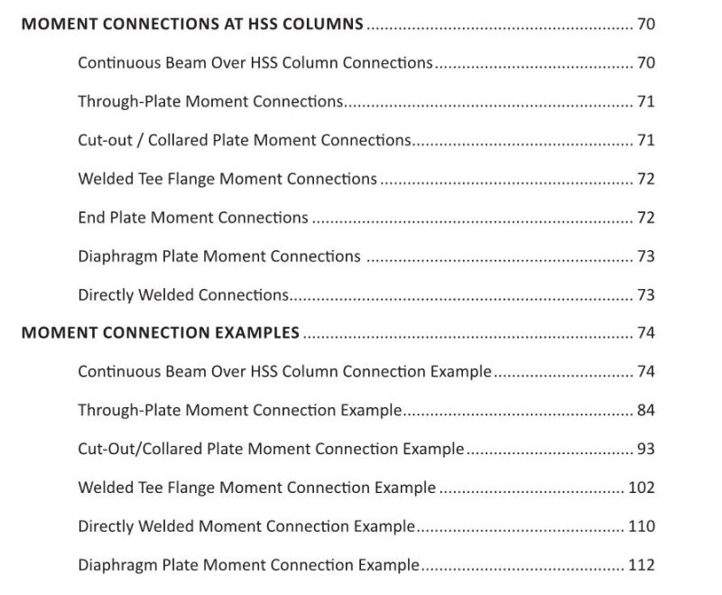 Reviews of STI's HSS Design Manual, Volume 3?? - Structural