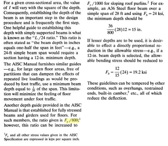 On how were span-depth ratios derived  - Structural engineering