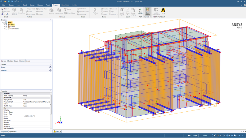 ANSYS Modeling - Spaceclaim - Show Contact - ANSYS: ANSYS Software
