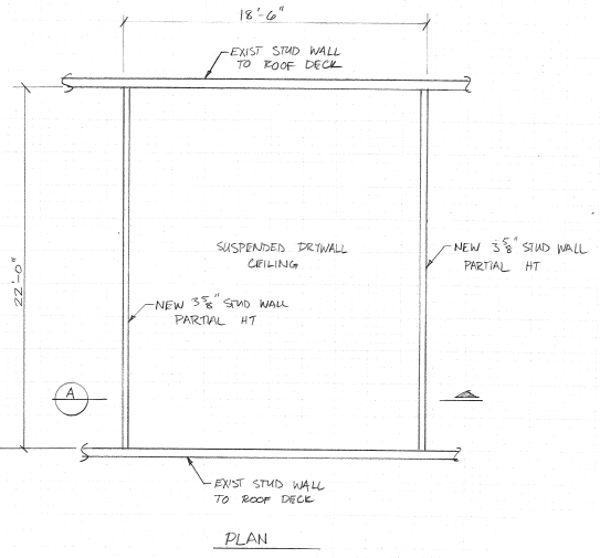 Interior Non-Load Bearing Partition Wall Lateral Support