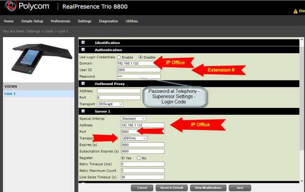 Polycom Trio 8800 on IPO - not registering - Avaya: IP