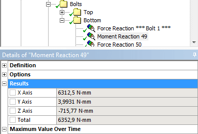 Get forces and moments from connection using APDL - ANSYS