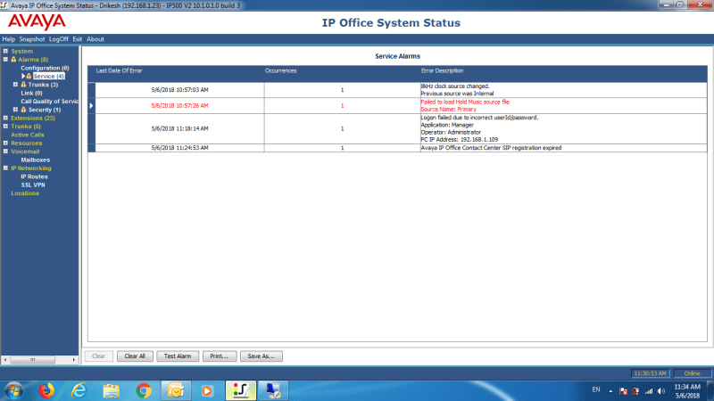 Avaya IP Office Contact Center SIP Regestration Expired