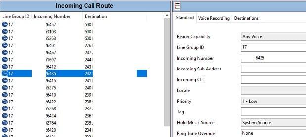 AVAYA - Incoming Call Route / Caller ID issues - Avaya: IP