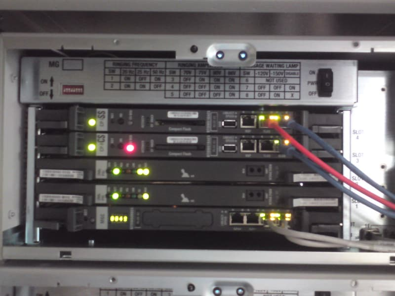 Nortel MG 1000 Faceplate error E002 - Nortel: CS1000