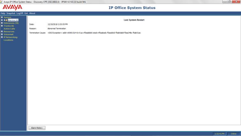 Rebooting - Avaya: IP Office - Tek-Tips