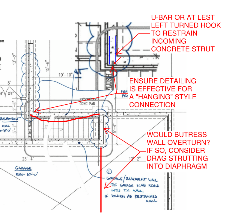 foundation wall diagram cantilever basement foundation wall support from perpendicular  cantilever basement foundation wall