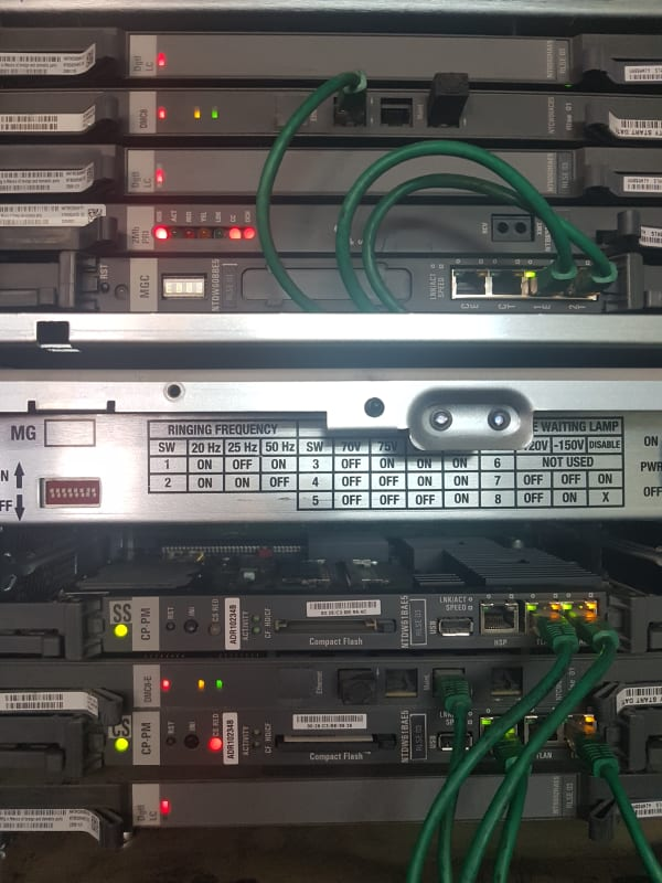 nortel MG 1000faceplate error E002 - Nortel: CS1000