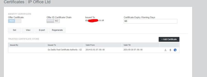Equinox and certificates - Avaya: IP Office - Tek-Tips