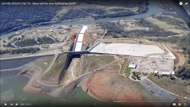 Oroville Dam Spillway Leaking (Again, 18 March 2019) As