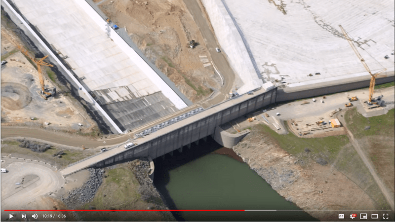 Oroville Dam Spillway Leaking (Again, 18 March 2019) As Waters Rise