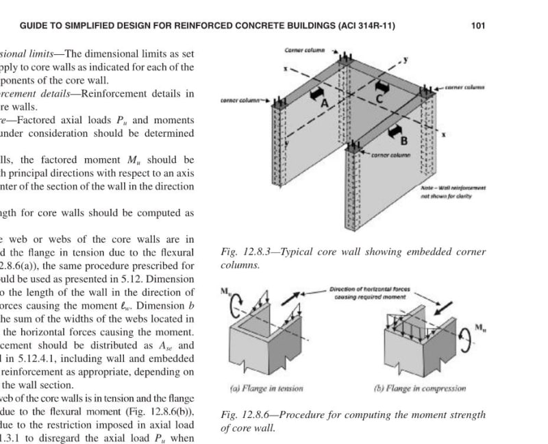 Design Of C Shaped And Rectangular Core Walls Structural Engineering General Discussion Eng Tips