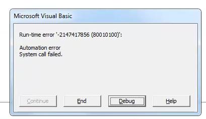 Automation error, System Call failed - DASSAULT: CATIA