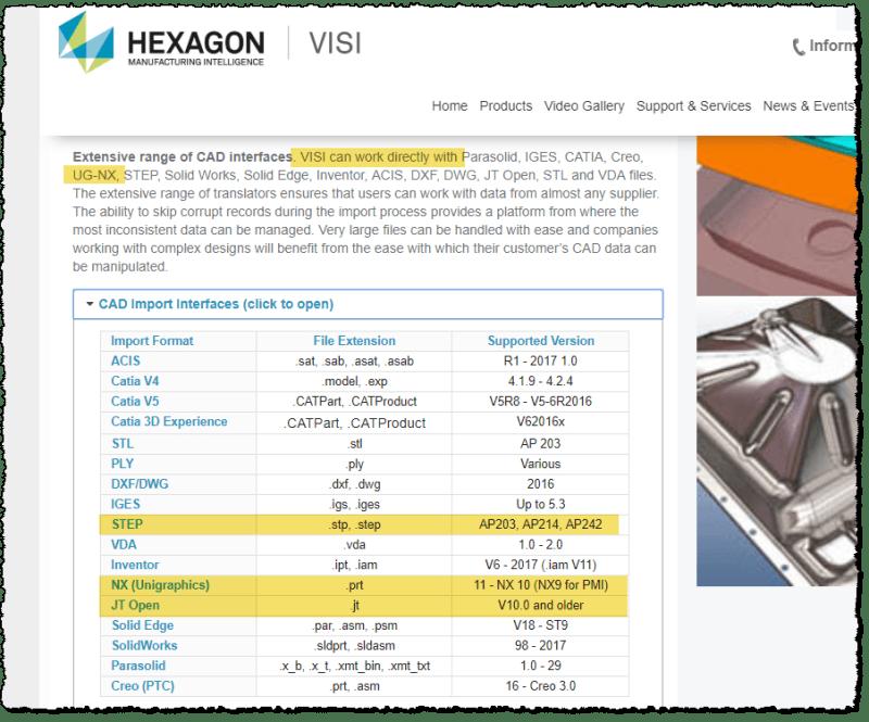 Exporting NX for Visi - Siemens: UG/NX - Eng-Tips