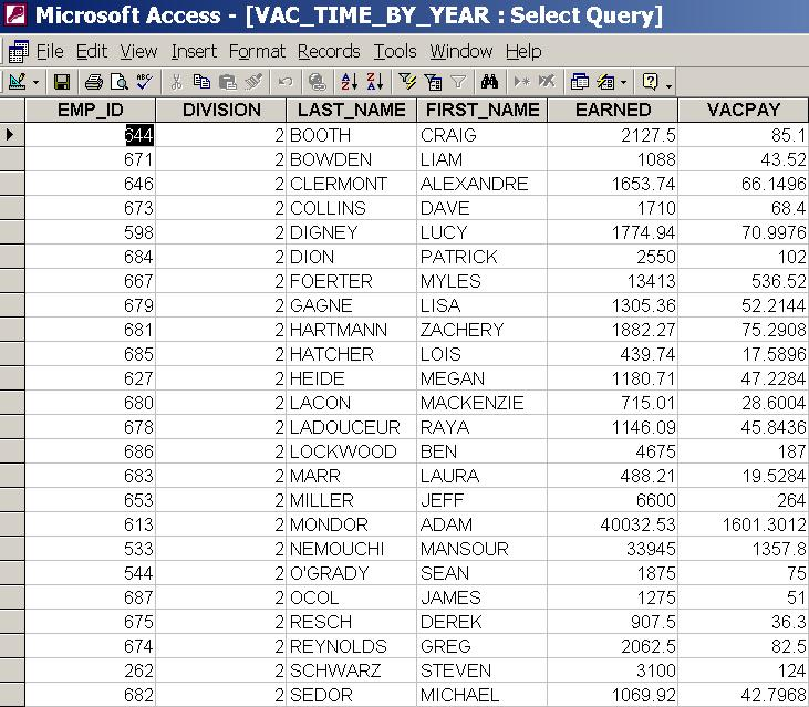 Connect two queries - Microsoft: Access Queries and JET SQL