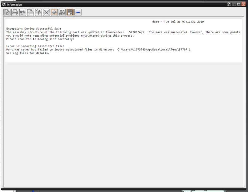 temp file error on save very often in 1947 - Siemens: UG/NX