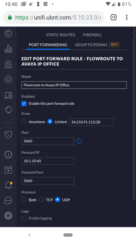 IP Office v11 drops Flowroute SIP audio after 15 minutes