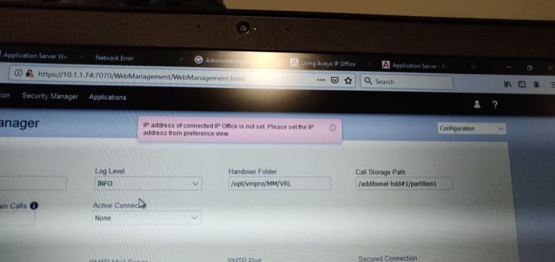 Call recording not functioning after Avaya IPO500 upgrade