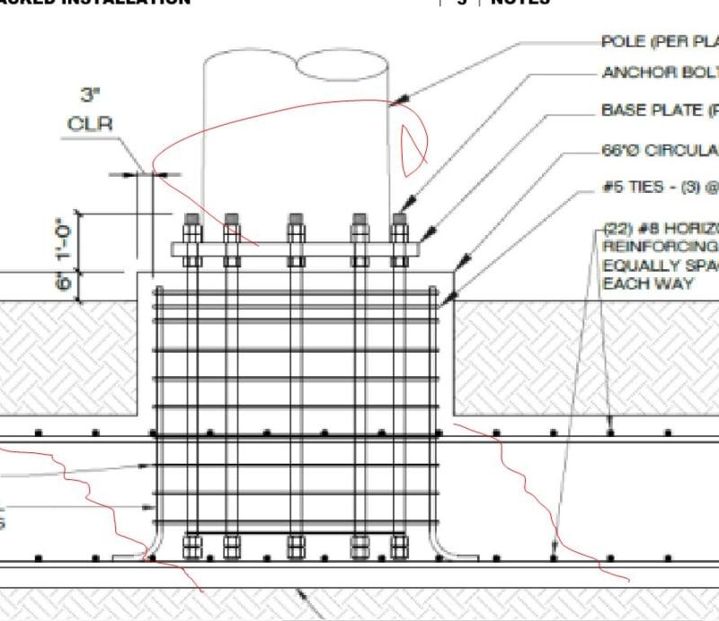 Anchor Bolt / Pedestal / Foundation Connection - Structural