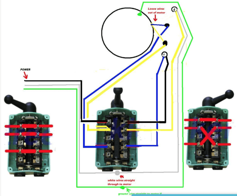 How To Connect Singlephase Reversible 2 2kw Motor To Qs60