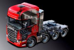 A Scania truck 3D model designed in DS CATIA V5.