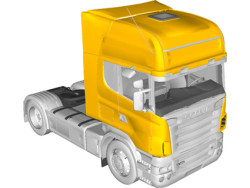 What has worked at MAN has not worked at Scania. Above Scania's 580 model designed in CATIA.