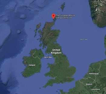 Northern Isles was deployed on June 21, 2018, at the European Marine Energy Center in Northern Scotland. It was retrieved two years later in June 2020. (Source: Google Maps.)