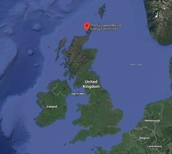 Les îles du Nord sont déployées le 21 juin 2018 au Centre européen de l'énergie maritime dans le nord de l'Écosse. Il a été téléchargé deux ans plus tard, en juin 2020. (Source: Google Maps.)