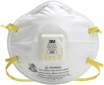 An N95 respirator, recommended by the CDC. 3M is one of the recommended manufacturers. (Image courtesy of Amazon.)