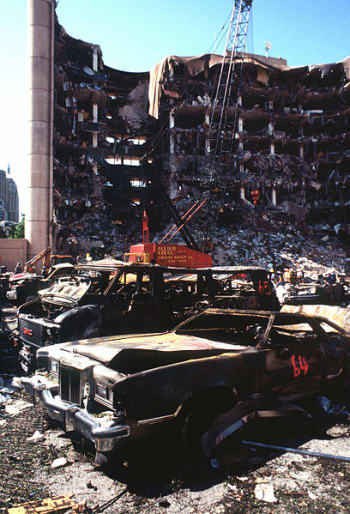 The Oklahoma City bombing was carried out by Timothy McVeigh and Terry Nichols on April 19, 1995.