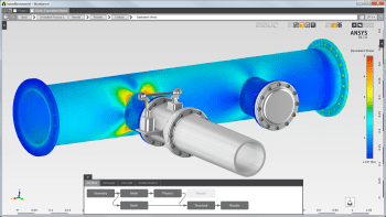 ANSYS AIM offers a simplified user interface (UI) that blends CAD and CAE. This will certainly suck many designers into the world of simulation. (Image courtesy of ANSYS.)