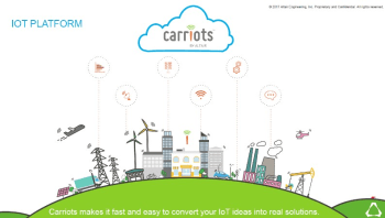 Since Altair acquired Carriots a few months ago, the company has been moving fast integrating the IoT platform into its systems. (Image courtesy of Altair.)