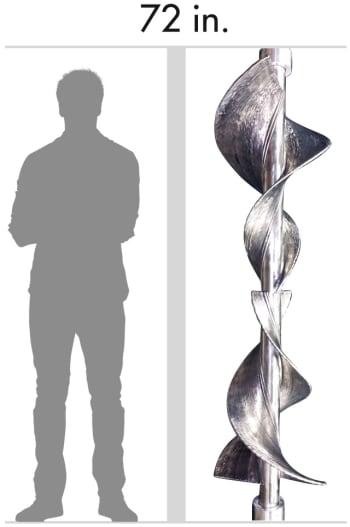A large titanium screw made with EBAM. (Image courtesy of Sciaky, Inc.)