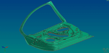 Geometry is imported directly into the die face module (Image courtesy of ESI Group.)