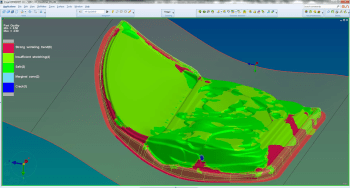 Feasibility study on the results from the automated die face design tool. (Image courtesy of ESI Group.)