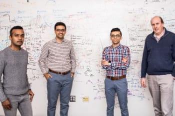The University of Washington engineers behind the low-power, HD video-streaming system. From left to right: Shyam Gollakota, Saman Naderiparizi, Mehrdad Hessar, Joshua Smith.Dennis Wise/University of Washington