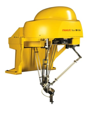 The FANUC M-1iA/0.5A can manipulate objects in six axes. (Image courtesy of FANUC.)