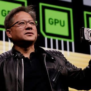 I told you these GPUs were good, says CEO Jensen (MSEE, Stanford), Nvidia's dynamic founder and CEO. Under his leadership, Nvidia has raised the GPU to the forefront of computing. Nvidia's share price has tripled in the last 2 years while Intel has faltered, giving Nvidia a bigger valuation than Intel. (Picture courtesy of Nvidia)