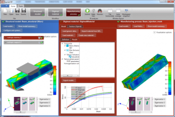 Newly extended support for FEA interfaces simplifies the accurate and efficient study of plastic parts. (Image courtesy of MSC Software.)