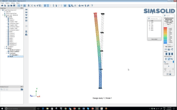 Modal Analysis of this 545-part assembly took only 49 seconds to run on a standard laptop. (Image courtesy of SIMSOLID.)
