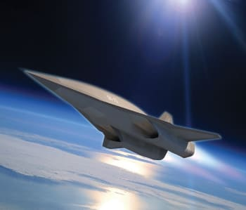 Artist's rendering of the SR-72. (Image courtesy of Lockheed Martin.)