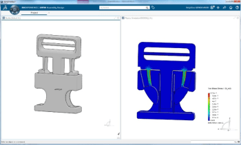 Sure, a design engineer can set up this simulation easy enough in SOLIDWORKS but analysts will teach them to do it right. (Image courtesy of Dassault Systèmes.)