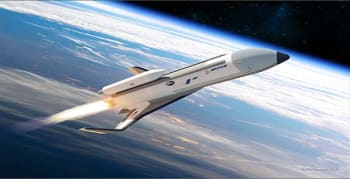 Artist's concept of the XS-1. (Image courtesy of DARPA.)