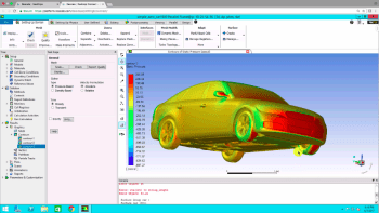 ANSYS simulation running on Rescale's cloud-based high-performance computing (HPC). (Image courtesy of ANSYS.)