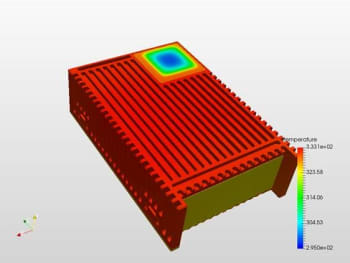 Engineers might have good instincts, but they aren't always right. This design assumed that the hard drives wouldn't overheat. They did. Simulation can help engineers avoid these errors. (Images courtesy of QRC Technologies).