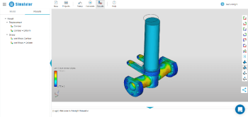 Simulator offers free finite element analysis on the cloud. (Image courtesy of Simright.)