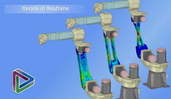 Simulation updates near-instantly as the geometry is changed. (Image courtesy of ANSYS.)