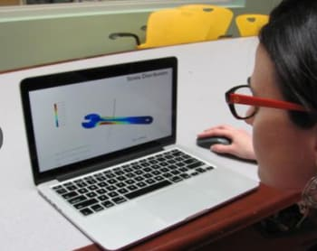 An MIT student test-drives the InstantCAD plug-in.