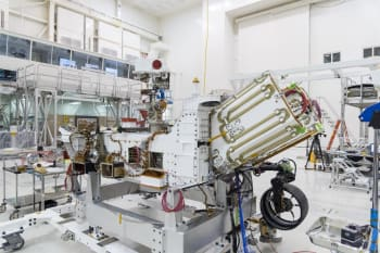 The electricity for NASA's Mars 2020 rover is provided by a power system called a Multi-Mission Radioisotope Thermoelectric Generator, or MMRTG.  (Image & Caption Courtesy of NASA)