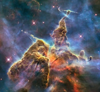 Magic Mountain a 3-light year tall pillar of gas. Images like these were never possible before the Hubble Space Telescope began surveying deep Universal time.